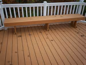 composite decking vinyl railings with lighting and bench in st louis st louis decks