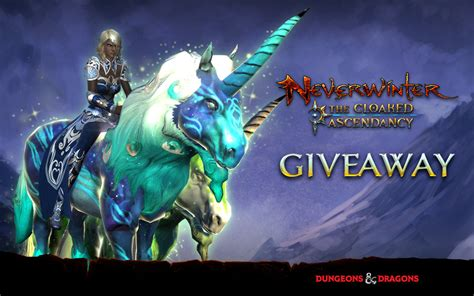 Neverwinter Giveaway - exclusive neverwinter unicorn mounts for console giveaway mmo central