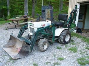 bolens ht23 garden tractor with brantly front end loader