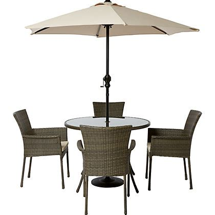 garden table and chairs set homebase mali 4 seater rattan effect garden furniture set