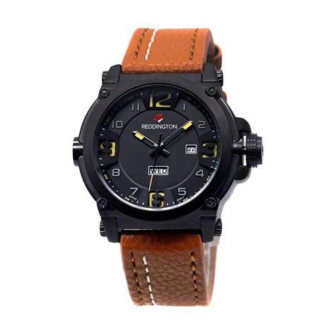 Jam Tangan Pria Kuning Emas jual reddington kulit coklat jam tangan pria 3038 hitam kuning harga kualitas