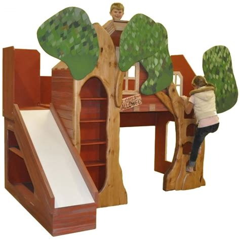 toddler bed with slide treehouse theme bed with slide