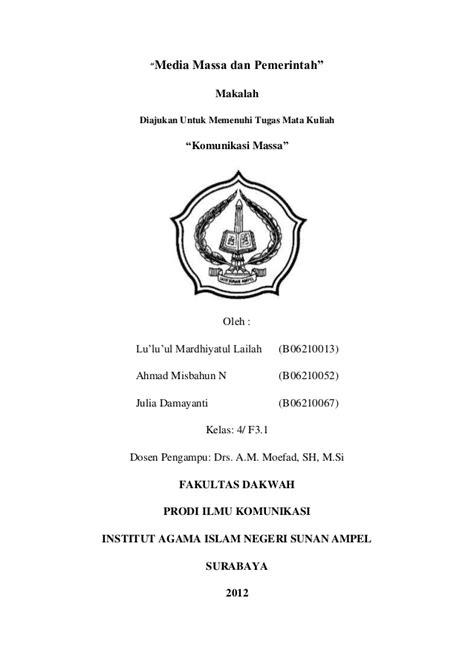 Pengantar Komunikasi Massa Oleh Nurudin komunikasi massa dan pemerintah