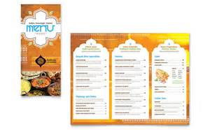 Indian Menu Template by Indian Restaurant Take Out Brochure Template Design
