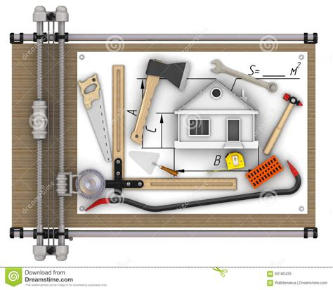 house drawing tool home construction concept stock illustration image 63180425