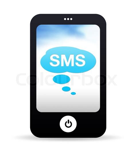 sms on mobile mobile phone sms stock photo colourbox