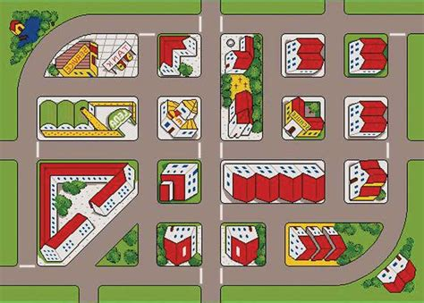 printable road maps for toy cars play mats for kids play rug for cars more