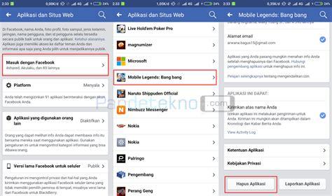 fb mobile legend cara reset atau menghapus akun mobile legends di android
