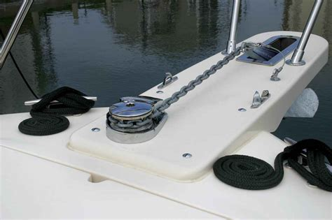 do grady white boats have wood i have a 2006 185 tournament the anchor is a problem for