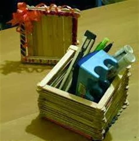 cara membuat kerajinan tangan kotak pensil contoh kotak pensil dari stik es krim cara membuat
