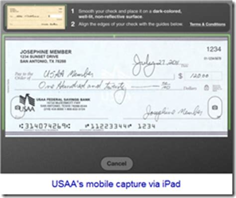 Mobile Monday Usaa Taps The Mobile Camera For New Account Opening Finovate Usaa Bank Statement Template