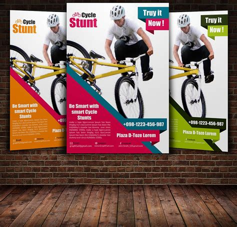 Bicycle Racing Flyer Template Flyer Templates Creative Market Bike Flyer Template Free