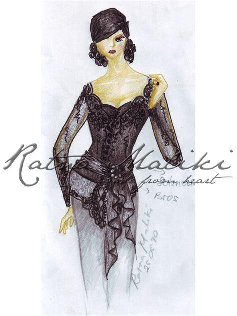 gambar desain clothing contoh desain sketsa kebaya fashion busana adat