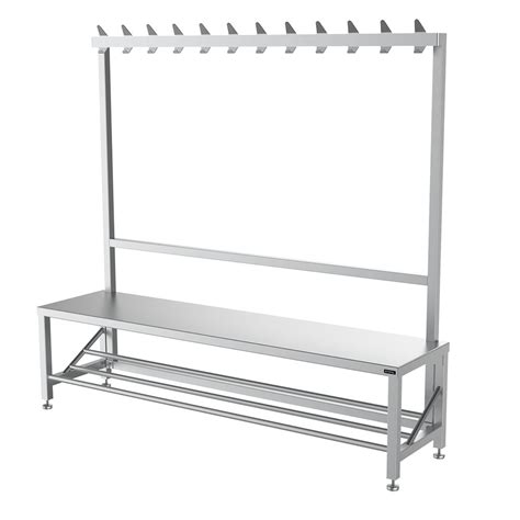 bench with coat hooks single sided changing room bench with coat hook rail uk