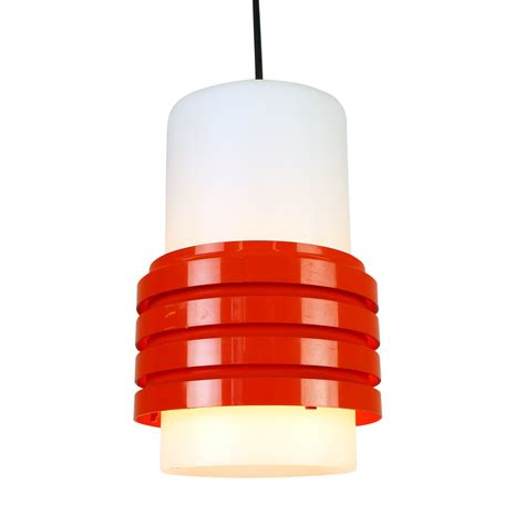 Red And White Plastic Light 1970s 1089 Plastic Lights