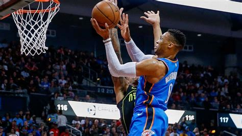 Oklahoma Records Westbrook Of Oklahoma City Thunder Records 100th Sportshub8