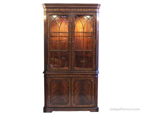 Corner Hutch Cabinets mahogany corner china cabinet hutch traditional formal curio