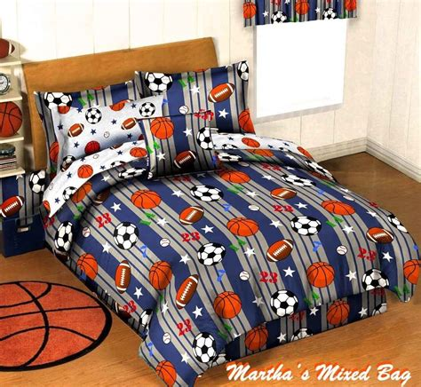 Mesmerizing Basket Ball Bedding Set For Boys With Veneer Bedding For