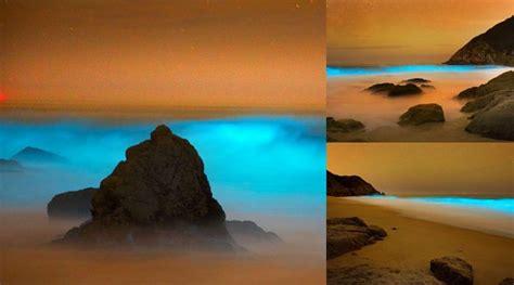 film ombak baru fenomena ombak bercahaya biru ala film fiksi di pantai