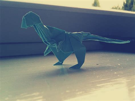 Origami T Rex Easy - origami t rex by catushi on deviantart