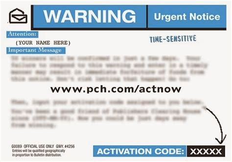 Visit Myaccount Pch Com - pch actnow activation code form autos post