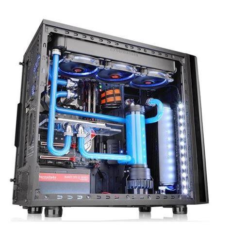 thermaltake view 31 fan controller thermaltake reveals new view 31 tg mid tower chassis