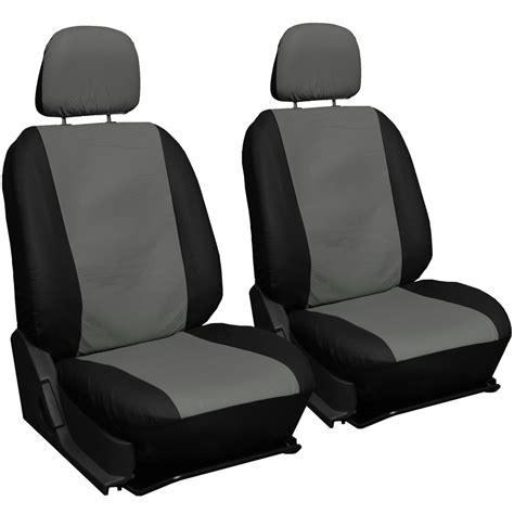 Car Mats And Seat Covers by Faux Leather Gray Black Seat Cover Set Rubber Floor Mats