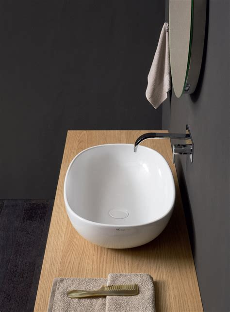 nic design milk lavabo milk countertop washbasin by nic design