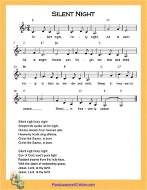printable lyrics to silent night silent night piano lesson on videos lyrics free
