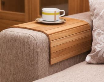 couch trays sofa tray table natural sofa arm tray unique gift idea