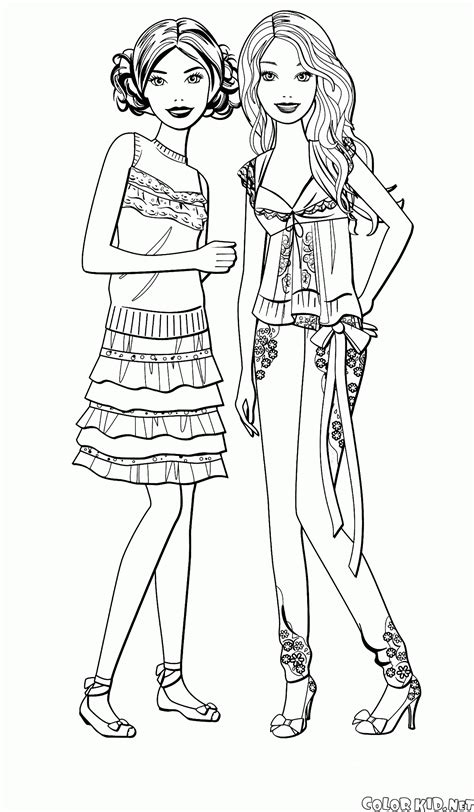 coloring pages of barbie and her friends gambar sister coloring pages getcoloringpages barbie
