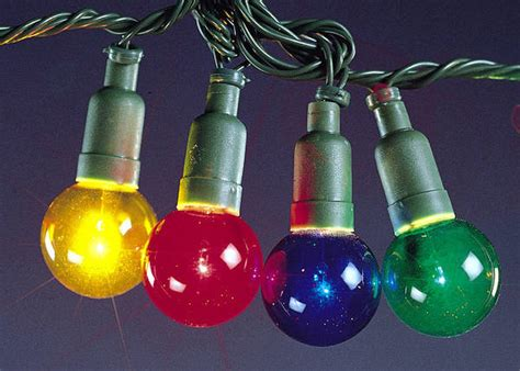40 mini globe christmas lights coloured