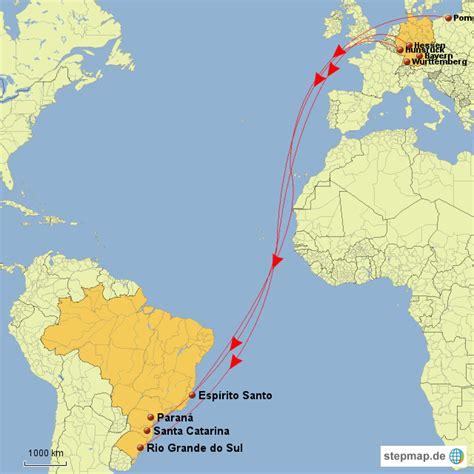 Brief Schweiz Nach Brasilien Emigration Deutscher Bund Gt Brasilien Miziaktiv Landkarte F 252 R Deutschland