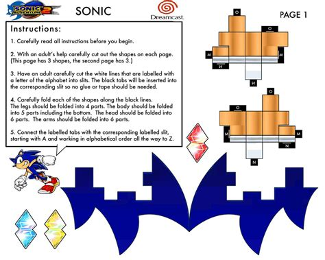 sonic adventure 2 papercraft 1 by sonicdahedgehog06 on