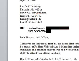 Sle Financial Aid Appeal Letter To College how to create a financial aid appeal letter college