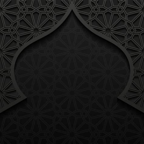design masjid photoshop islamic mosque with black background vector 02 download