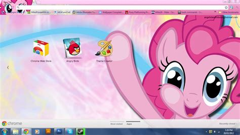 theme google chrome my little pony fim pinkie pie google chrome theme by m24designs on