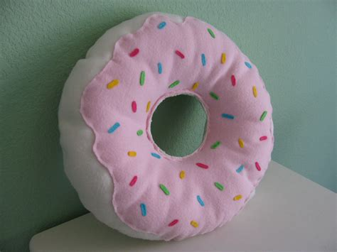 Donuts Pillow large donut pillow by designofmind on etsy