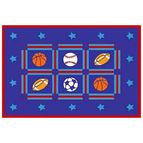 Sports Themed Area Rugs Donnieann 174 5x8 Sports Themed Area Rug 215415 Rugs At Sportsman S Guide