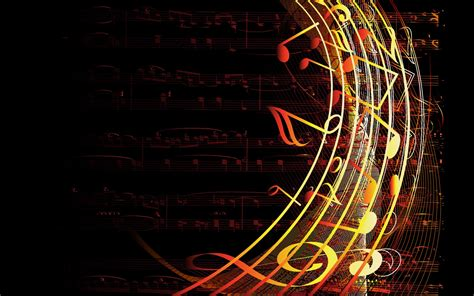 Wallpaper Design Abstract Music | colorful musical notes abstract wallpaper abstract