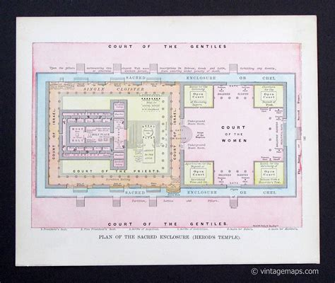 The Psalms Of Herod herods temple diagram herod s temple plan of the sacred