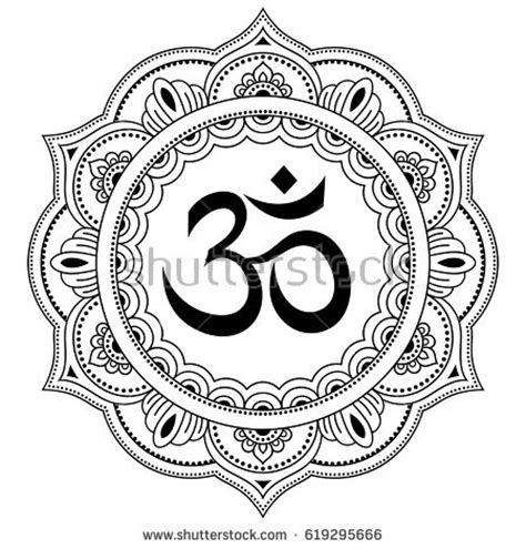 hindu pattern name om stock images royalty free images vectors shutterstock