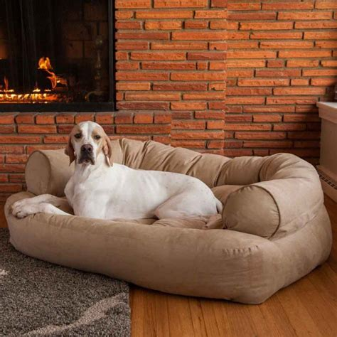 huge dog on couch best fabric couches for dogs homesfeed
