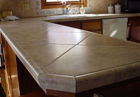 Kitchen Countertops With Ceramic Tile Ideas Kitchentoday Tile Kitchen Countertop