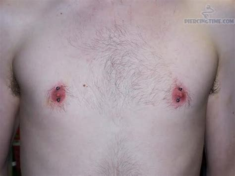 nipple tattoo infection nipple male piercing pictures and images page 31