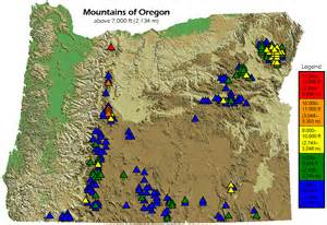 map of oregon mountain ranges file mountains of oregon png