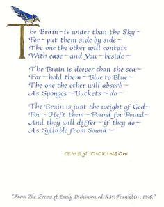 the brain is wider than the sky poem by emily dickinson selected poems 9780156806473 really it http