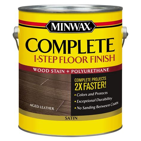 minwax 1 gal complete 1 step stain and polyurethane floor - 1 Gal Satin Complete 1 Step Stain And Polyurethane Floor