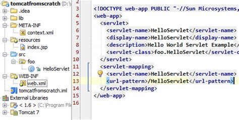 url pattern in xml intellij idea deploy a simple java servlet no jsp to