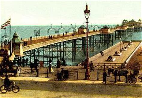 the palace pier and theatre brighton later brighton pier palace pier
